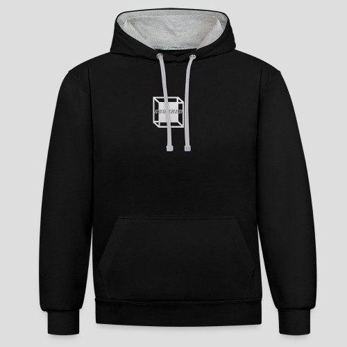Squared Apparel Logo White / Gray - Contrast Colour Hoodie