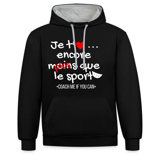 Saint valentin - Sweat-shirt contraste