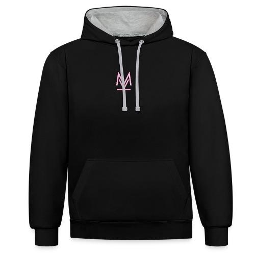 logo Key M - Felpa con cappuccio bicromatica