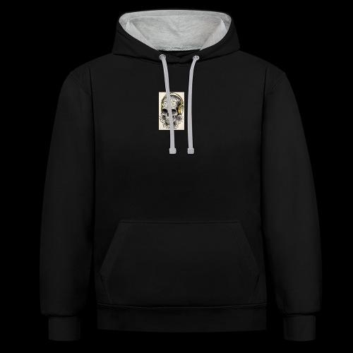 ab7a6a89ac2078fff2dd245fb15abaaf skull tattoo des - Contrast hoodie