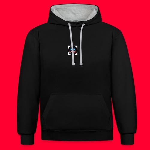 logo jpg - Contrast Colour Hoodie
