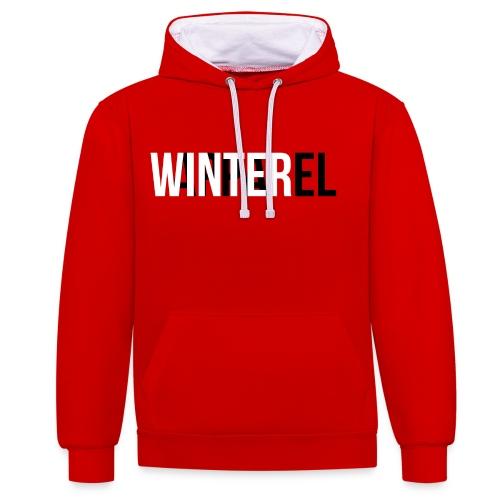 Winter Apparel Logo - Kontrast-hættetrøje