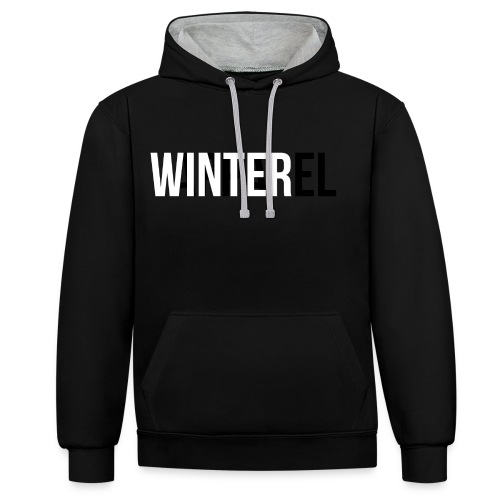 Winter Apparel Logo - Kontrast-hættetrøje