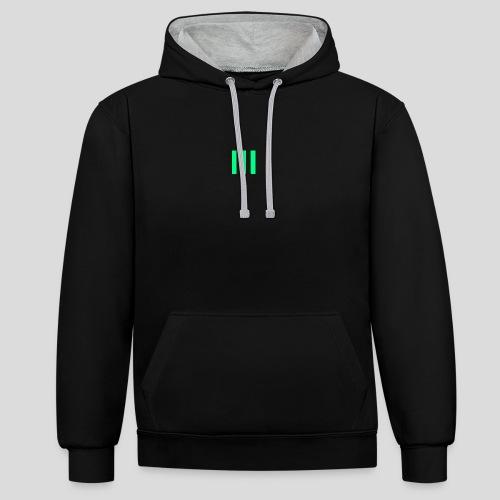 III Logo - Contrast Colour Hoodie