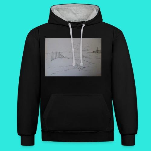 Zeezicht met vuurtoren - Contrast hoodie