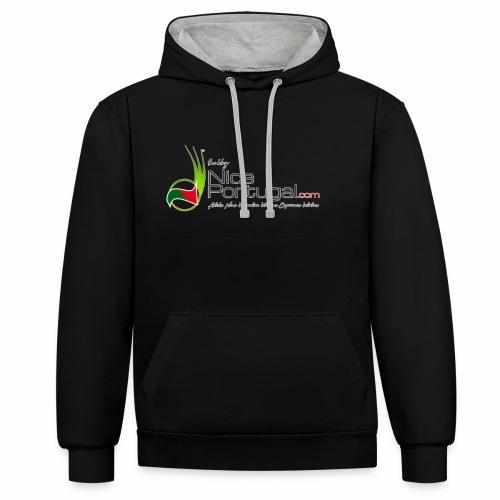 NicePortugal.com Logo - Felpa con cappuccio bicromatica