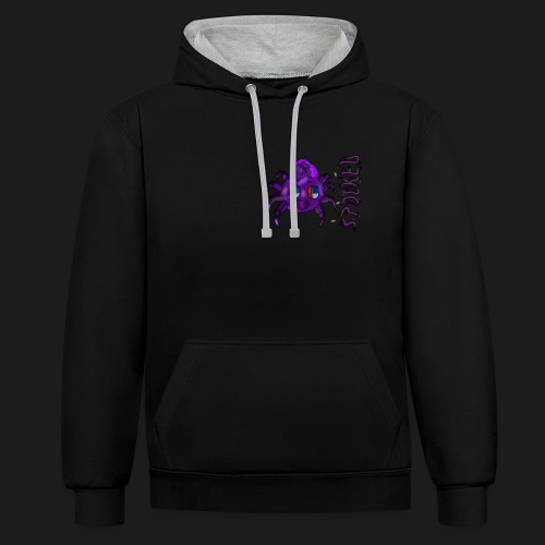 spider spooked - Contrast Colour Hoodie