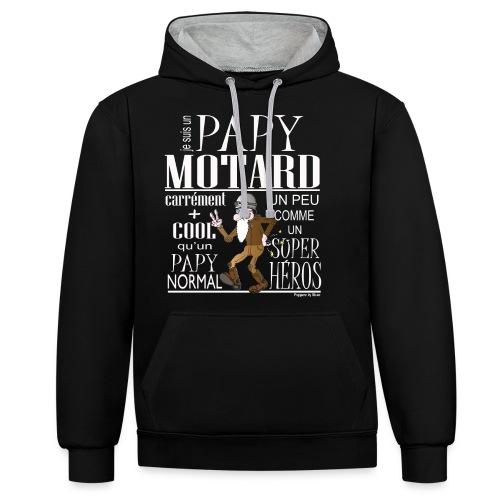 N 182 PAPY MOTARD 2020 - Sweat-shirt contraste