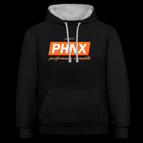 PHNX /#orange/ - Kontrast-Hoodie