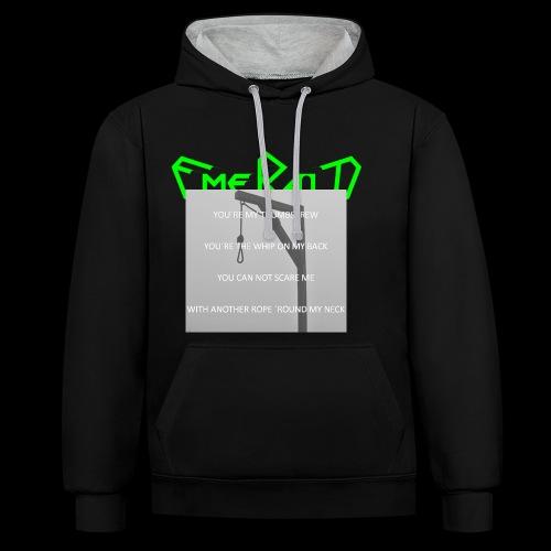 Emerald - Kontrast-Hoodie