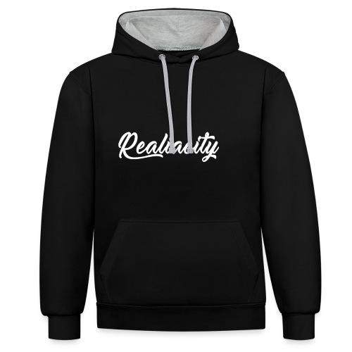 Realiacity Logo - Sudadera con capucha en contraste
