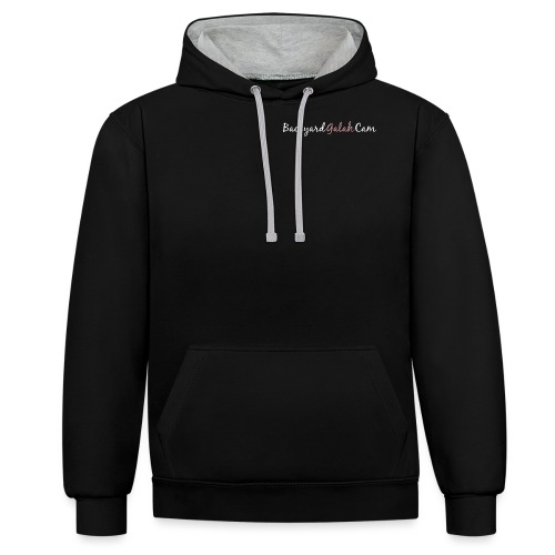 Backyard Galah Cam logo - Contrast Colour Hoodie