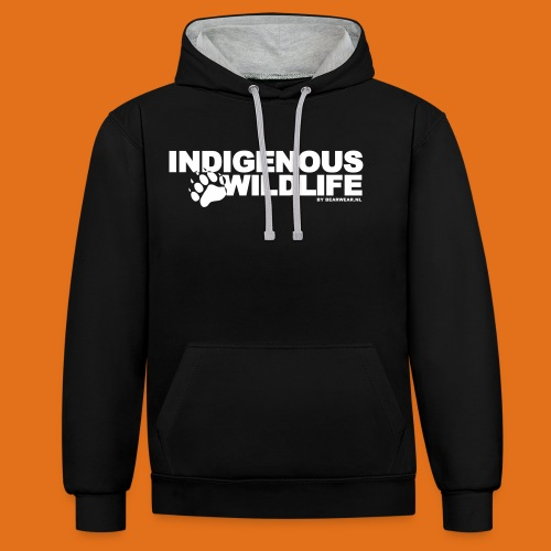 indigenous wildlife new - Contrast Colour Hoodie