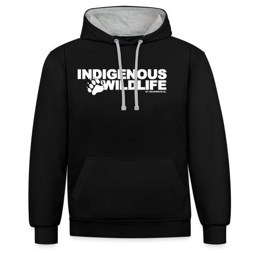 indigenous wildlife new - Contrast Colour Hoodie