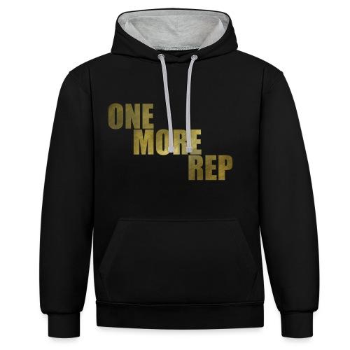 ONE MORE REP Gym Workout Freizeit - Kontrast-Hoodie
