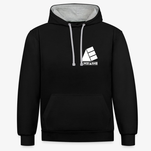 Logo 4 png - Contrast Colour Hoodie