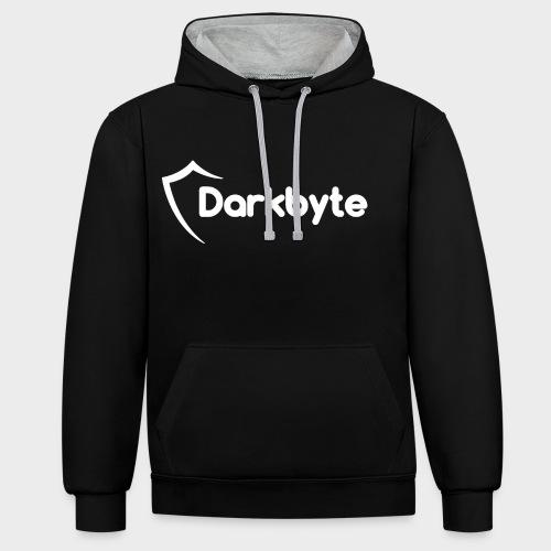 Darkbyte - Sudadera con capucha en contraste