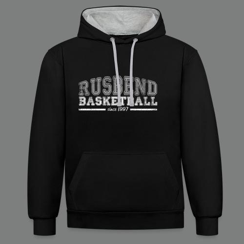 Rusbend Logo G/W - Kontrast-Hoodie