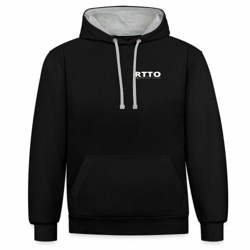 RTTO BLACK EDITION - Contrast hoodie