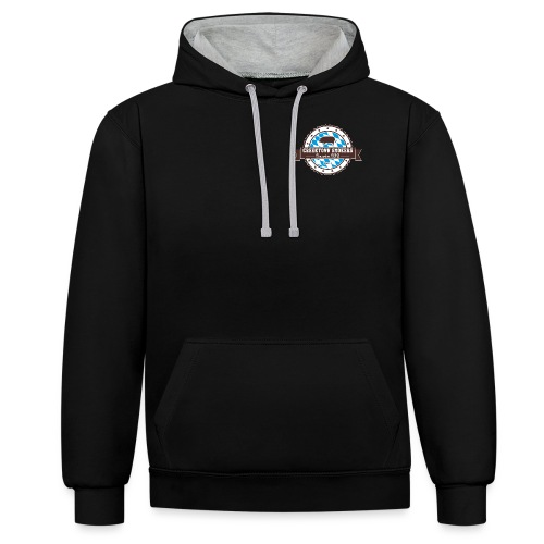 Logo 2016 shirts outline - Kontrast-Hoodie