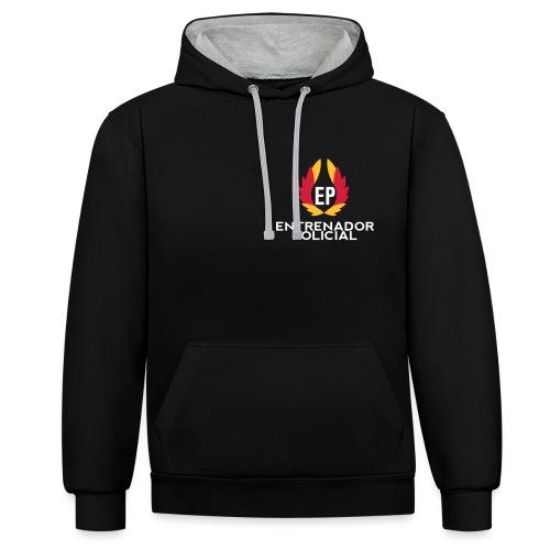 EntrenadorPolicial - Sudadera con capucha en contraste