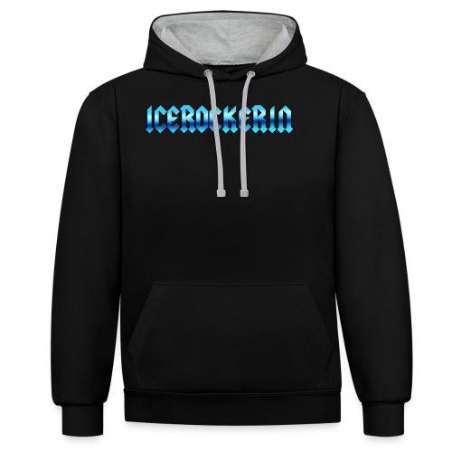 Icerockerin - Kontrast-Hoodie