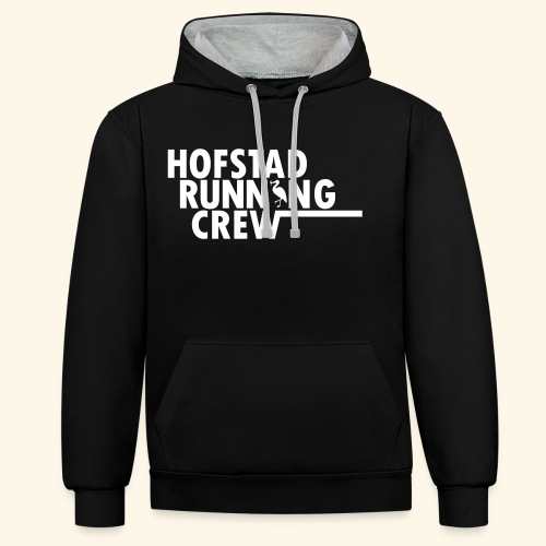 Hofstad Running Crew Merchandise. - Contrast hoodie