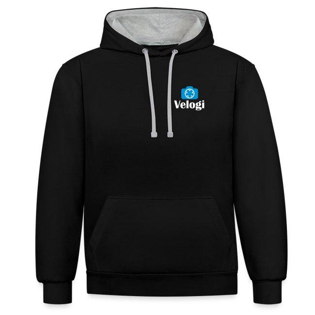 Velogi logo cyan white