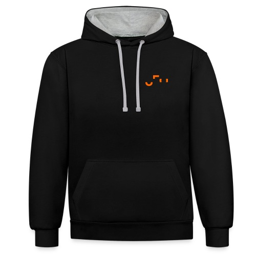 UFO Small Pocket Logo - Front and Back - Kontrast-Hoodie