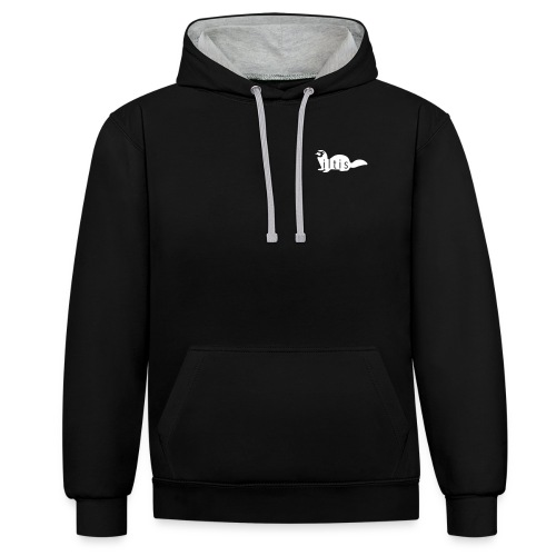ILTIS Black and White - Kontrast-Hoodie