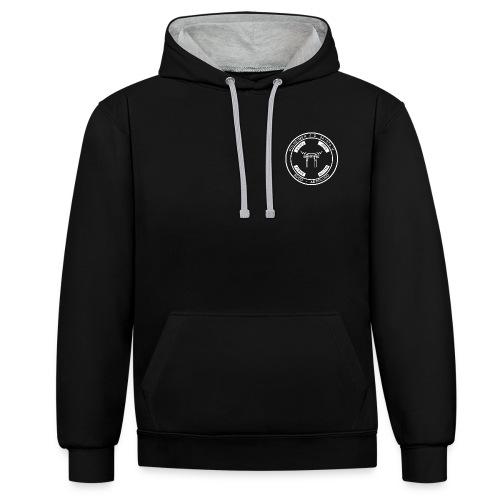 PSC Budo Emblem weiß png - Kontrast-Hoodie