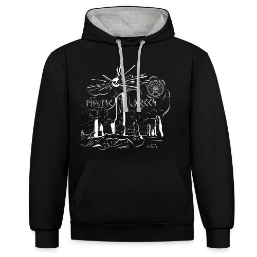 Pyro Mystic Rocks Feuerwerk - Kontrast-Hoodie