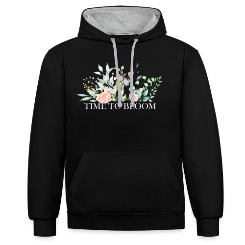 Time to bloom - Kontrast-Hoodie