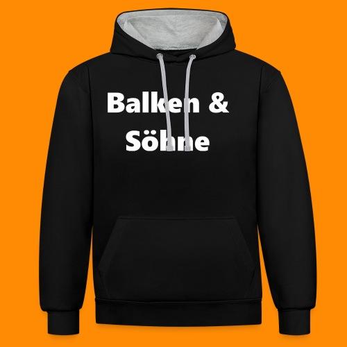 Balken & Söhne - Kontrast-Hoodie