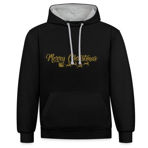 Merry Christmas - Contrast hoodie