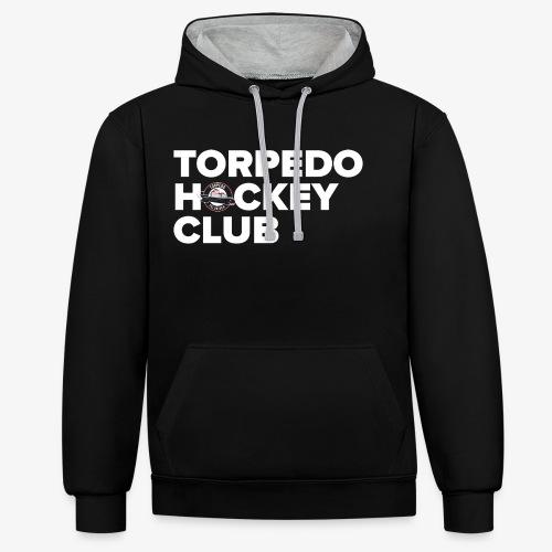 torpedo 3 white - Kontrast-Hoodie
