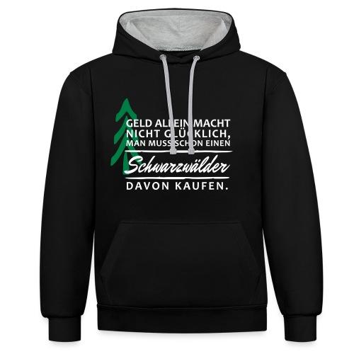 T-Shirt Spruch Geld Schwa - Kontrast-Hoodie