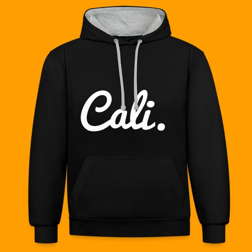 Cali s Logo Weiss - Kontrast-Hoodie