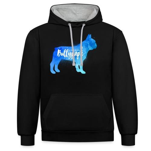 Liebender Bullypapa - Französische Bulldogge - Kontrast-Hoodie