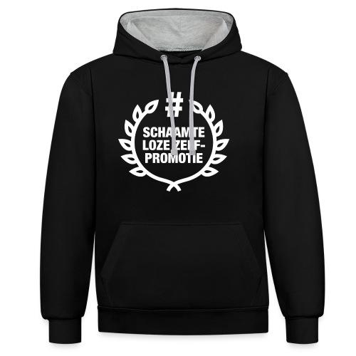 schaamteloze zelfpromotie - Contrast hoodie