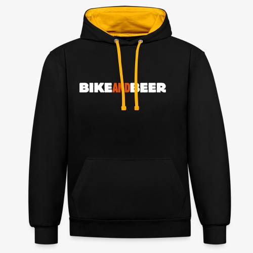 bike and beer banner - Sweat-shirt contraste