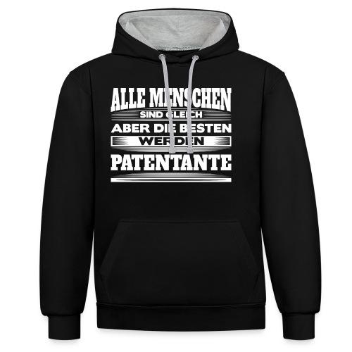Die besten werden Patentante - Kontrast-Hoodie