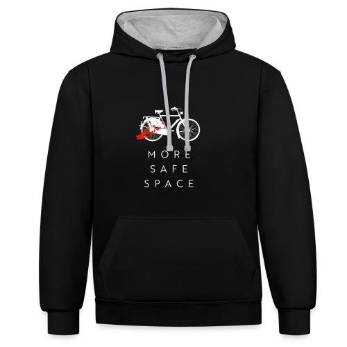 MORE SAFE SPACE - Kontrast-Hoodie