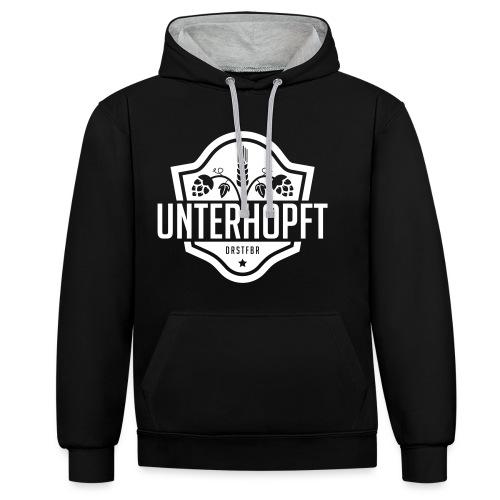 Unterhopft - Kontrast-Hoodie