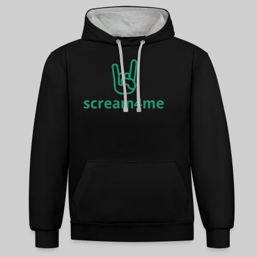 logo_text_green - Contrast Colour Hoodie