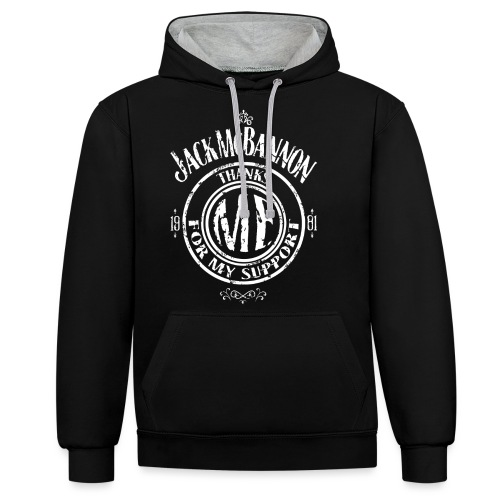 Jack McBannon Thanks Me For My Support - Kontrast-Hoodie