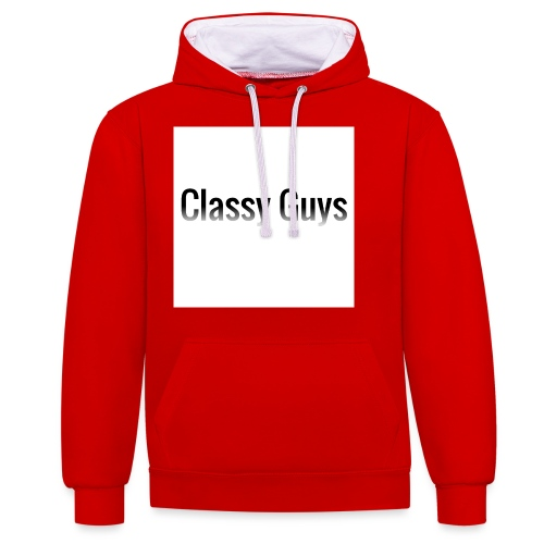 Classy Guys Simple Name - Contrast Colour Hoodie