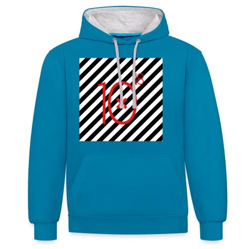 Stripes Hoodie - Bluza z kapturem z kontrastowymi elementami