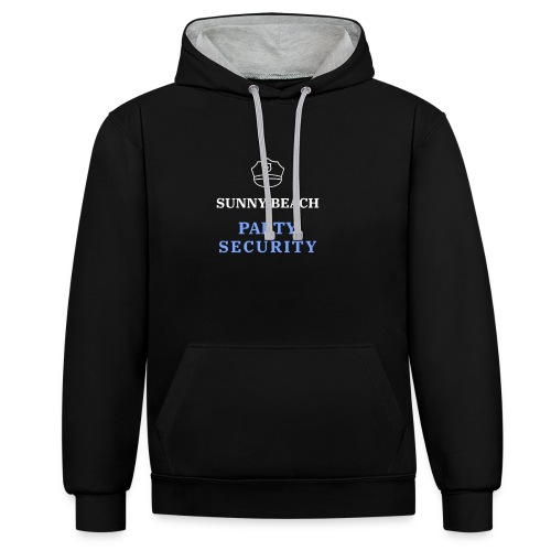 Sunny Beach | Sonnenstrand | Party Security - Kontrast-Hoodie