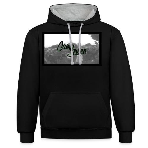 CampGreen Skyline - Kontrast-Hoodie